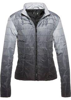 Куртка градиентной расцветки (черный/серебристый матовый) Bonprix