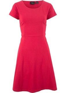 Платье из трикотажа, без рукавов (красный) Bonprix