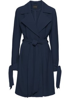 Пальто с запахом, без подкладки (темно-синий) Bonprix