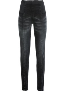 Джинсы-стретч SLIM, низкий рост (K) (черный) Bonprix