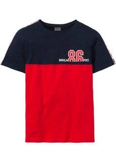 Футболка Regular Fit (темно-синий/красный) Bonprix