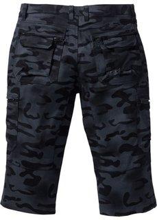 Брюки Baggy Fit Straight длиной 3/4 (черный с рисунком) Bonprix