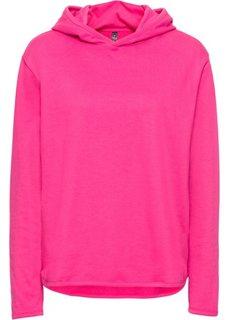 Свитшот (горячий ярко-розовый) Bonprix
