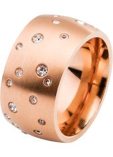 Кольцо со стразами (розово-золотистый) Bonprix