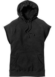 Свитшот Regular Fit без рукавов (черный) Bonprix