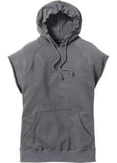 Свитшот Regular Fit без рукавов (серый) Bonprix