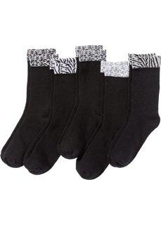 Носки женские (5 пар) (черный) Bonprix