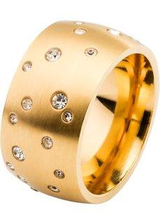 Кольцо со стразами (золотистый) Bonprix