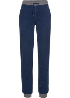 Брюки спортивные, передняя часть из денима (серый меланж/синий джинсовый) Bonprix