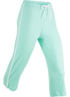 Спортивные брюки капри с эффектом стретч (нежно-мятный) Bonprix