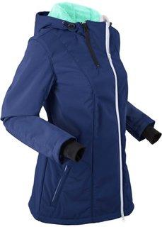 Куртка софтшелл с капюшоном и флисовой подкладкой (темно-синий) Bonprix