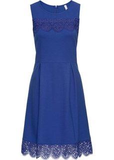 Платье с кружевными деталями (темно-синий) Bonprix