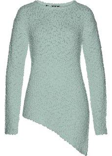 Пуловер с асимметричным нижним краем (светло-зеленый) Bonprix