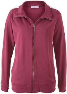 Куртка с длинным рукавом из трикотажа, дизайн Maite Kelly (красный рододендрон/белый) Bonprix