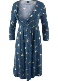Платье для будущих и кормящих матерей (темно-синий с рисунком) Bonprix