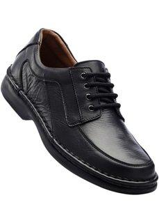 Кожаные туфли (черный) Bonprix