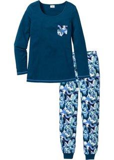 Пижама (серо-синий с рисунком) Bonprix