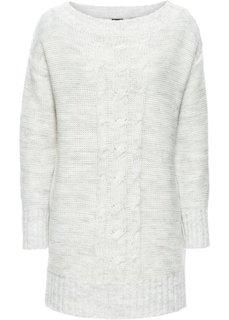 Пуловер (экрю/серый меланж) Bonprix