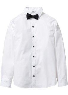 Рубашка с бабочкой, Размеры  116/122-164/170 (белый) Bonprix