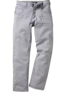Брюки-стретч Regular Fit Straight, низкий + высокий рост U + S (светло-серый) Bonprix