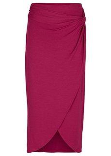 Миди-юбка (горячий ярко-розовый) Bonprix