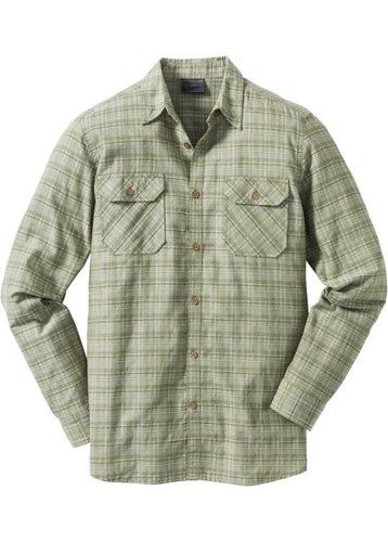 Рубашка Regular Fit с длинным рукавом (оливковый)
