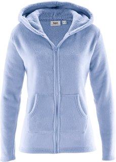 Флисовая куртка с капюшоном (жемчужно-синий) Bonprix