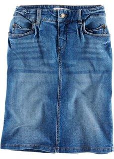 Джинсовая юбка, cредний рост N (синий «потертый») Bonprix