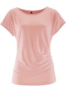 Футболка с короткими рукавами (винтажно-розовый) Bonprix