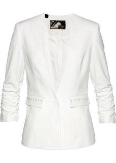 Пиджак с драпированными рукавами (кремовый) Bonprix