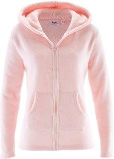 Флисовая куртка с капюшоном (жемчужно-розовый) Bonprix