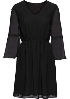 Платье из шифона (черный) Bonprix