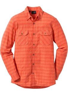 Рубашка Regular Fit с длинным рукавом (оранжевый) Bonprix