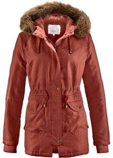 Куртка с опушкой из искусственного меха (кирпично-красный) Bonprix