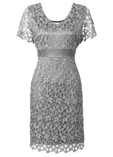 Кружевное платье (серебристый) Bonprix