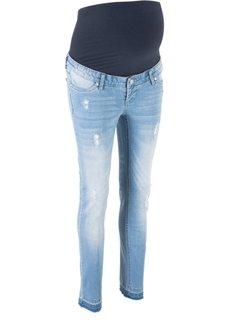 Джинсы-дудочки для беременных (голубой) Bonprix