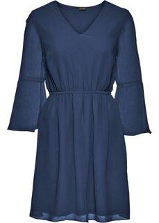 Платье из шифона (темно-синий) Bonprix