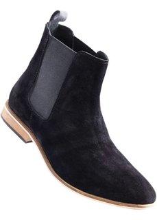 Замшевые ботинки (черный) Bonprix