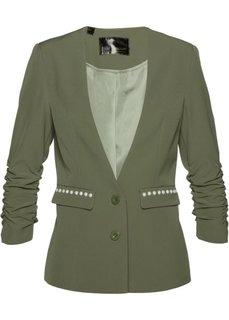 Пиджак с драпированными рукавами (оливковый) Bonprix