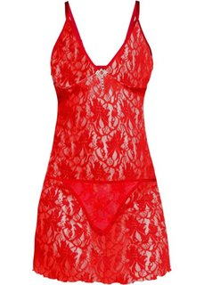 Платье + трусики, (комплект из 2-х изделий) (красный) Bonprix