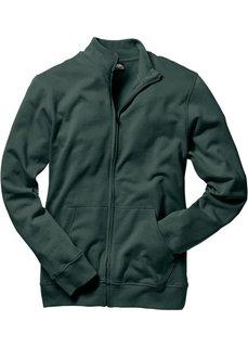 Трикотажная куртка стандартного покроя (темно-зеленый) Bonprix
