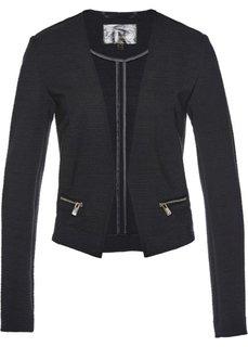 Пиджак из трикотажа (черный) Bonprix