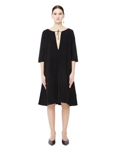 Платье мини с V-образным вырезом Blackyoto