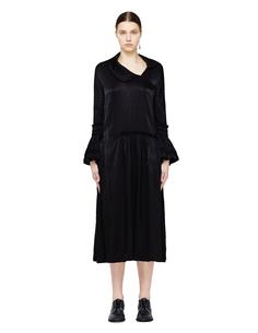 Черное платье с рюшами на манжетах Comme des Garcons CdG