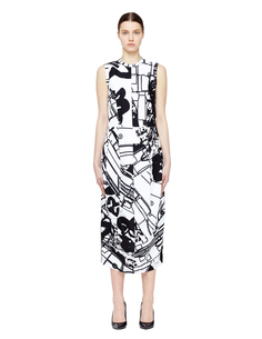 Платье с абстрактным принтом Стефана Маркса Comme DES GarÇons