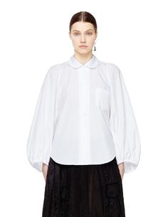 Белая блузка с объемными рукавами Comme DES GarÇons