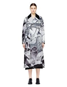 Двубортное пальто с принтом Сэссона Сюкэя Comme DES GarÇons