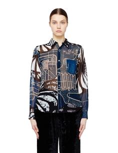 Полупрозрачная блузка с принтом Comme DES GarÇons