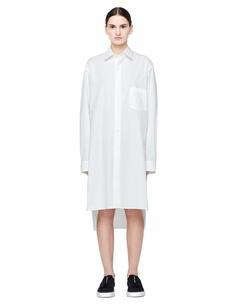 Белое хлопковое платье-рубашка Y-3
