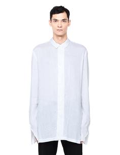 Удлиненная рубашка из хлопка и льна Lost&Found